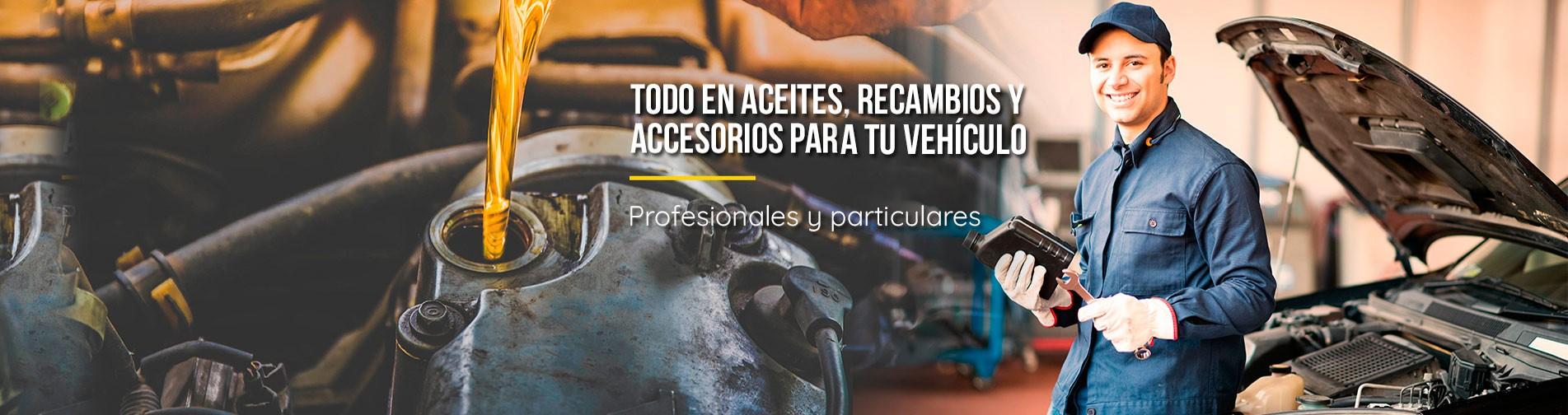 Todo en aceites, recambios y accesorios para su vehículo